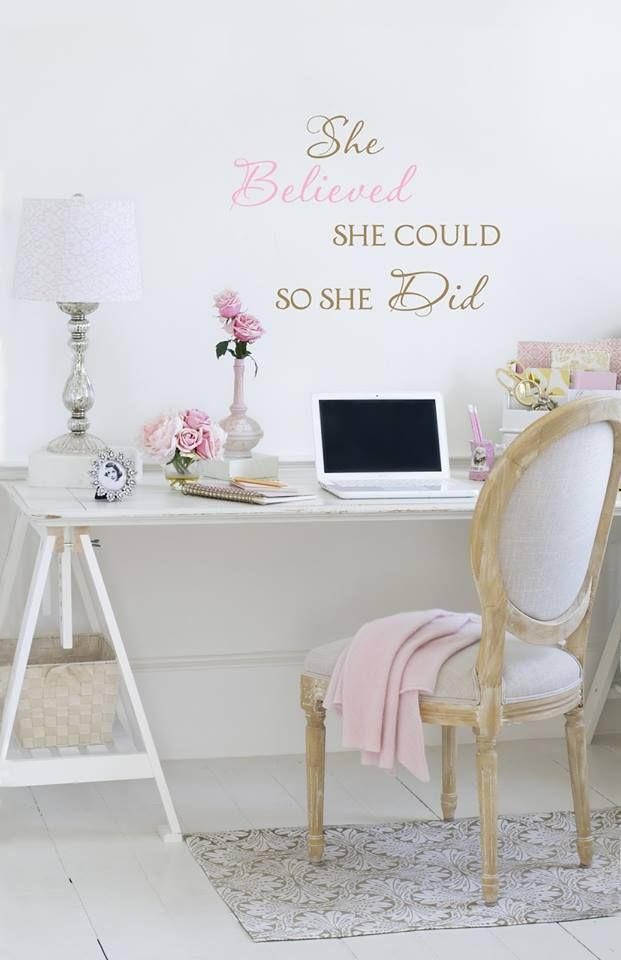 Vintage Rose Collection My Office Space Jo Anne Coletti White Office,  Romantic, Shabby Chic Style By Noemi
