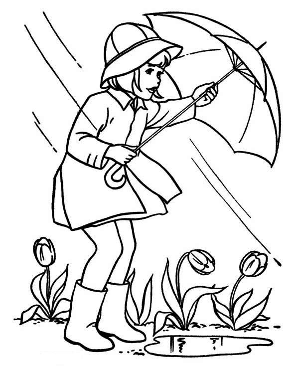 april showers coloring pages 01 Super coloring pages