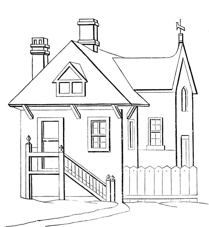 House Coloring Pages - Image 2 | Paper Art | Pinterest | House ...
