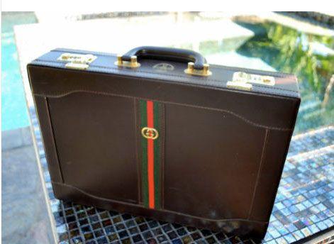 size 40 d7f90 6a76b Vintage Gucci briefcase, $30 | Vintage style | Vintage gucci, Gucci ...