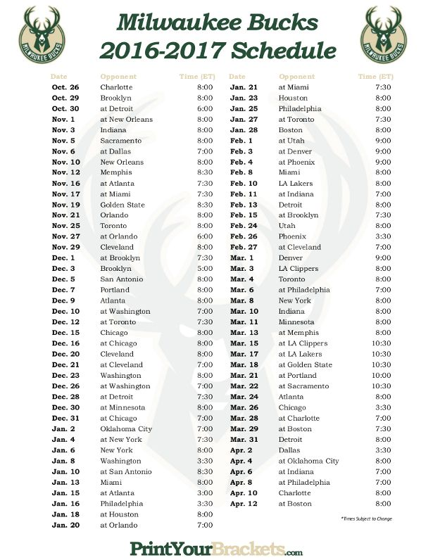 photo about Uk Basketball Schedule Printable known as Printable Milwaukee Dollars Basketball Timetable 2016 - 2017