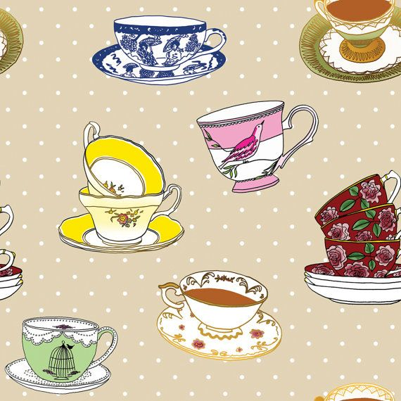Kitchen Tea Background: Custom Wallpaper, Kitchen Cupboards