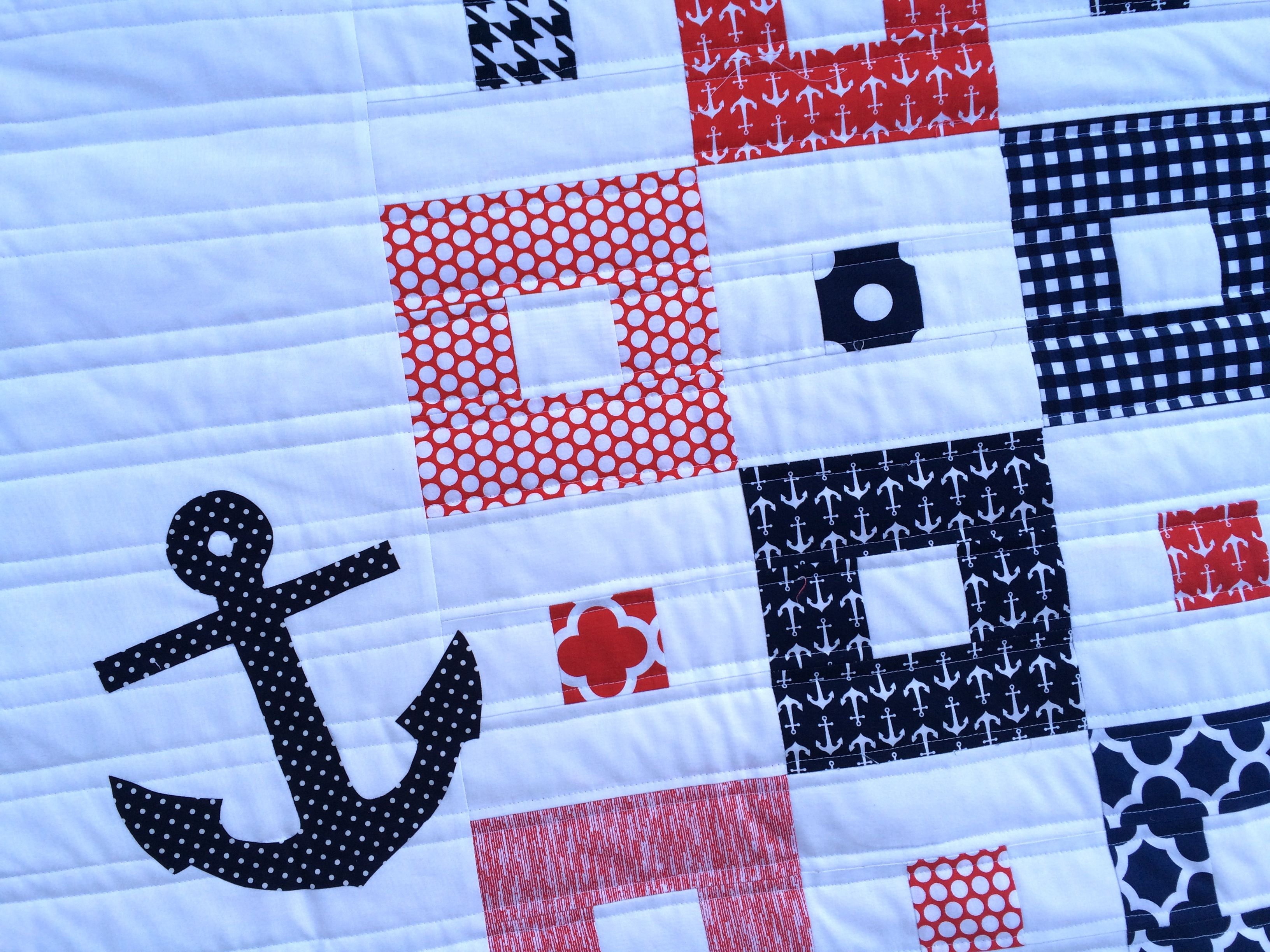Nautical Mini Quilt Tutorial. Love the quilting lines | sewing ... : nautical quilts patterns - Adamdwight.com