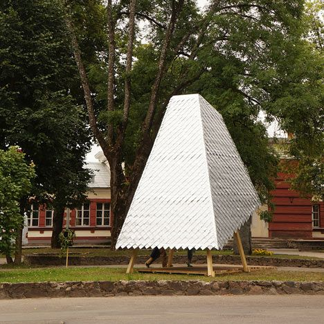 Summer School Students And Tutors From Riga Technical University Rtu Modelled The Story Tower On A Gian Temporary Architecture Architecture Architecture Blog
