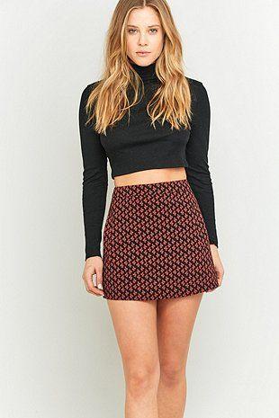 Urban Outfitters Black Printed Pocket Pelmet Skirt
