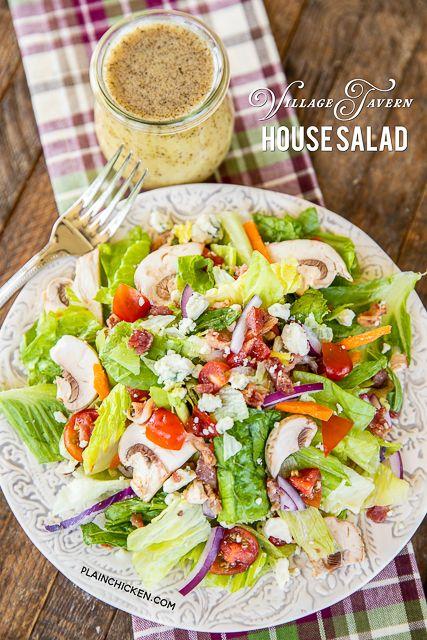 Village Tavern House Salad - Plain Chicken