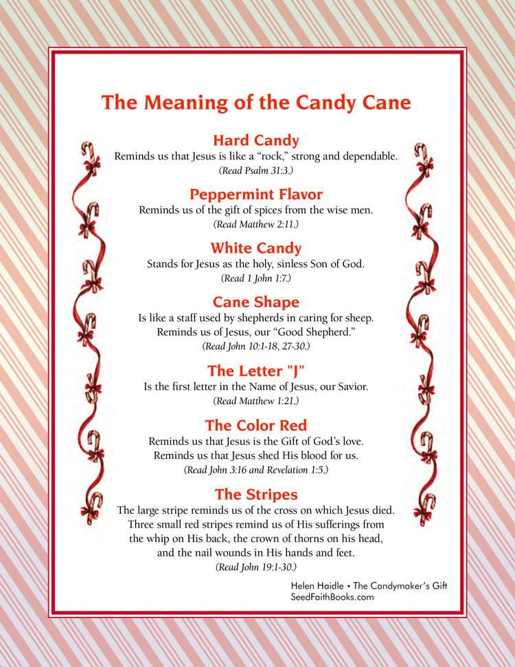 Meaning of the Candy Cane - PDF | Candy canes, Pdf and Religious ...