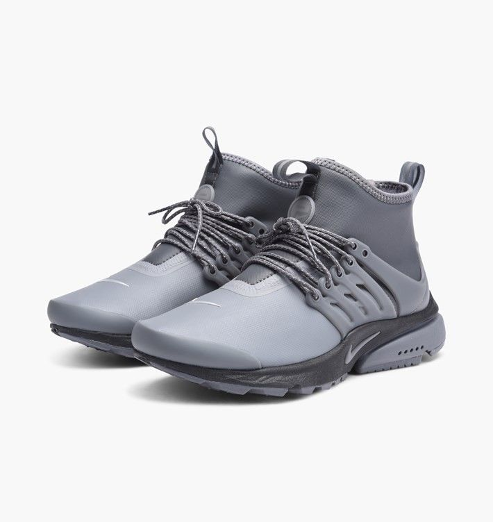 77257b189ac4 Nike Womens Air Presto Sneakers Mid Utility Dark Grey Sale