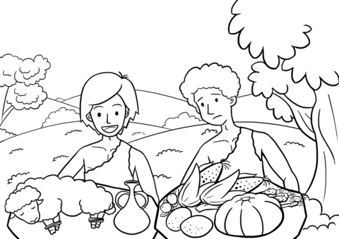 Cain and Abel the Way of Sacrifice Coloring page | I {heart} Sunday ...