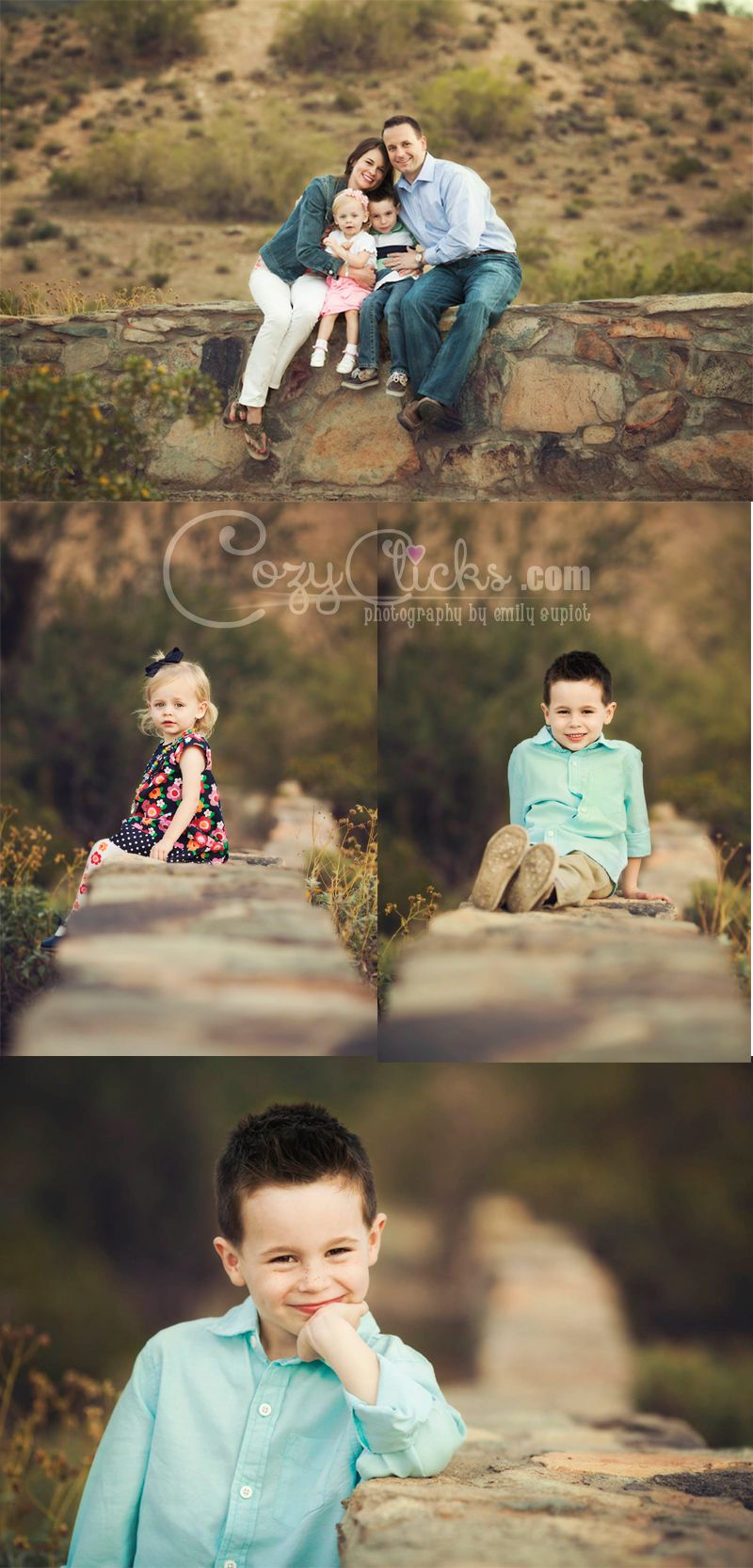 South Mountain sunset family photo shoot in Phoenix Arizona