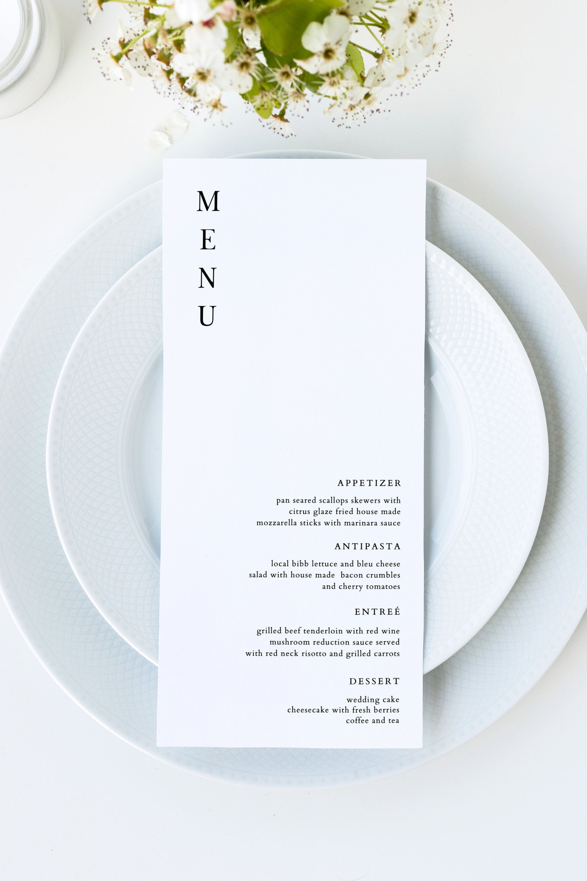 HARPER | Modern Wedding Menu Template, Simple Menu Cards, Black and White Menu Cards, Printable Menu Cards, Menu Template 5x7, Instant Menu