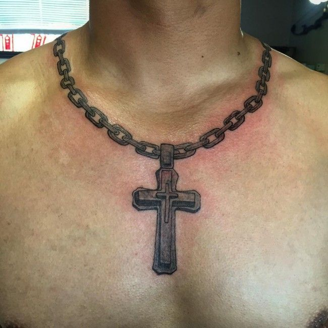 Cross Tattoos Ideas Necklace For Men | Body Canvas ...