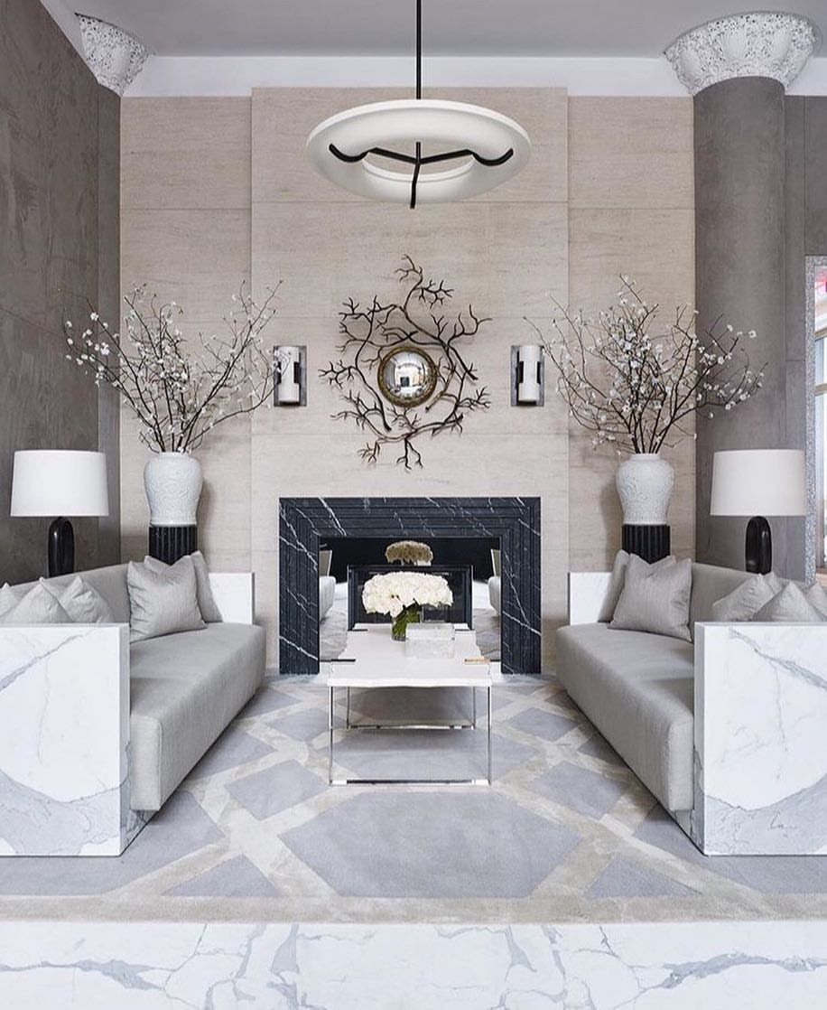 Living Hall Interior Design: My Favourite Feature In This Living Space Are The Branches
