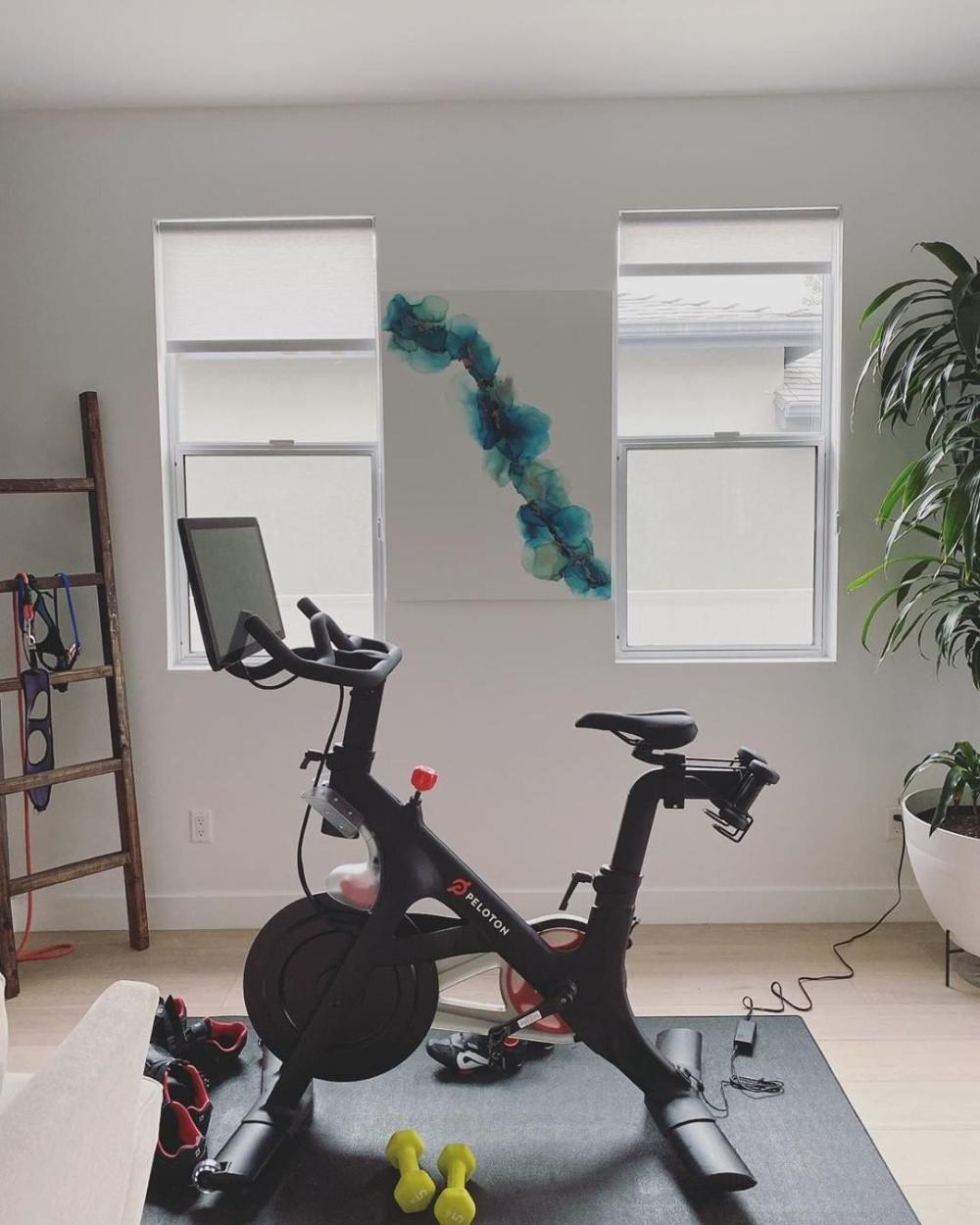 Peloton Gym Design Inspirationpeloton Onepeloton Instagram Photos And Videos In 2020 Peloton Gym Design Peloton Bike