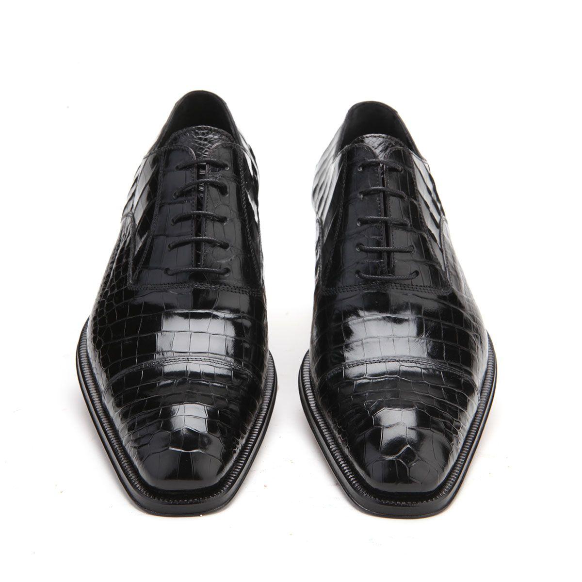 Caporicci Italian Mens Shoes Black Alligator Oxfords Art1114 Cap1007 Italian Shoes For Men Dress Shoes Men Mens Shoes Black [ 1200 x 1200 Pixel ]