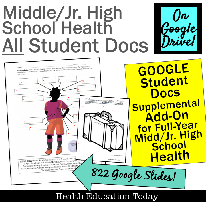 Middle School Health Lessons TPT's 1 BestSelling Middle
