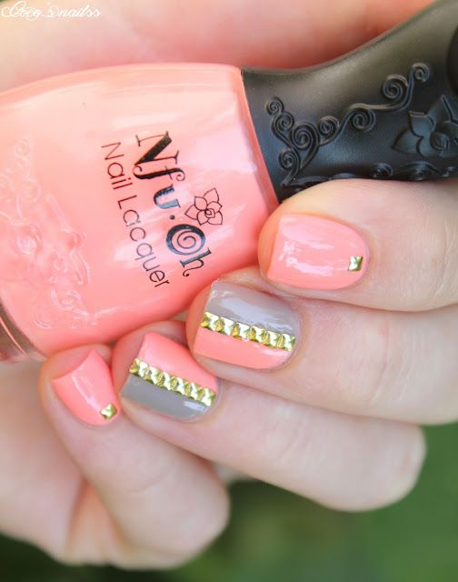 neon nail art #tape #nails #studs #cocosnailss