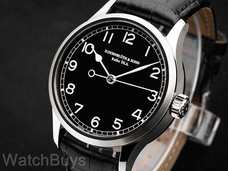 Dornblueth & Sohn Central Seconds Black Dial Watches