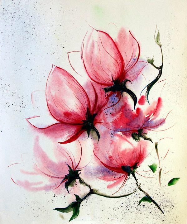 Pin By Jerseydee Fago On Just Artwork Magnolia Tattoo Flower Tattoos Flower Tattoo Arm