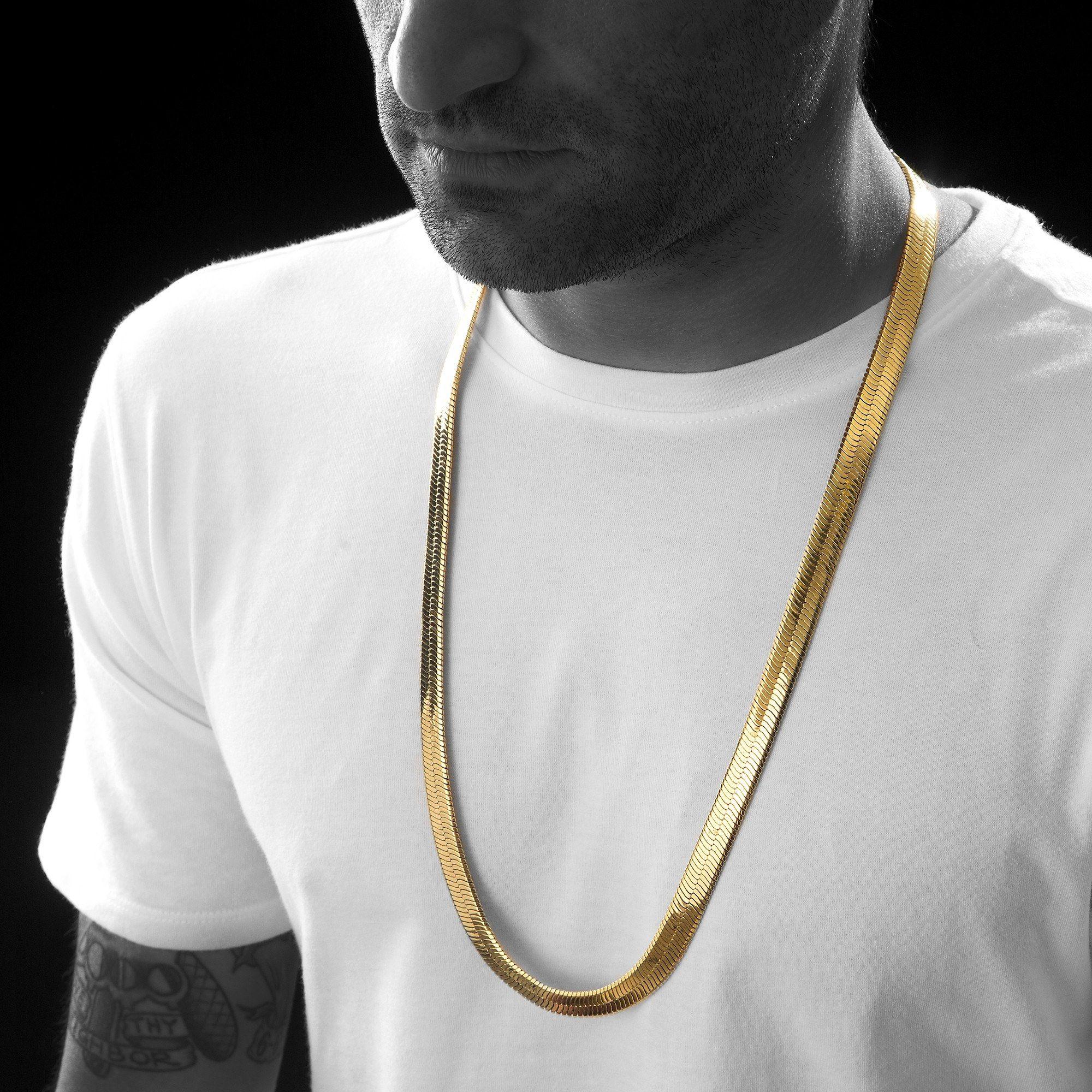 Men S 10mm Gold Herringbone Chain Necklace Gold Chains For Men Mens Chain Necklace Chains For Men