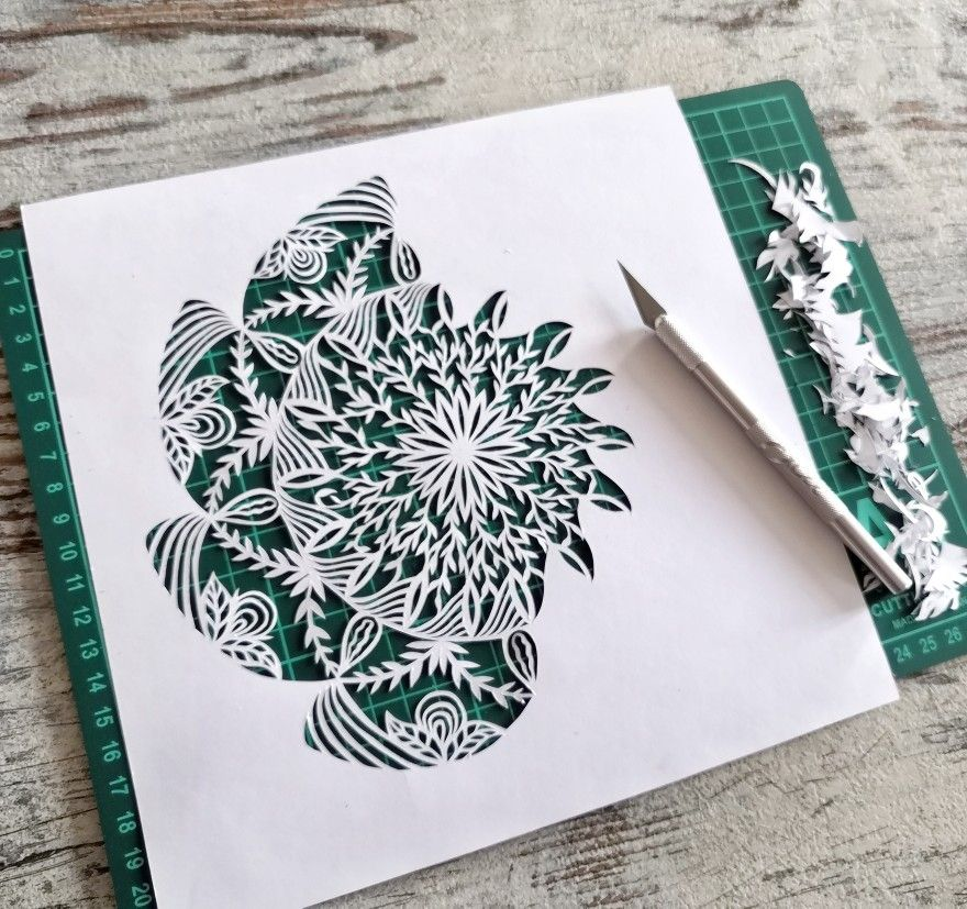 Pin On Paper Art By Antonina Luchinina