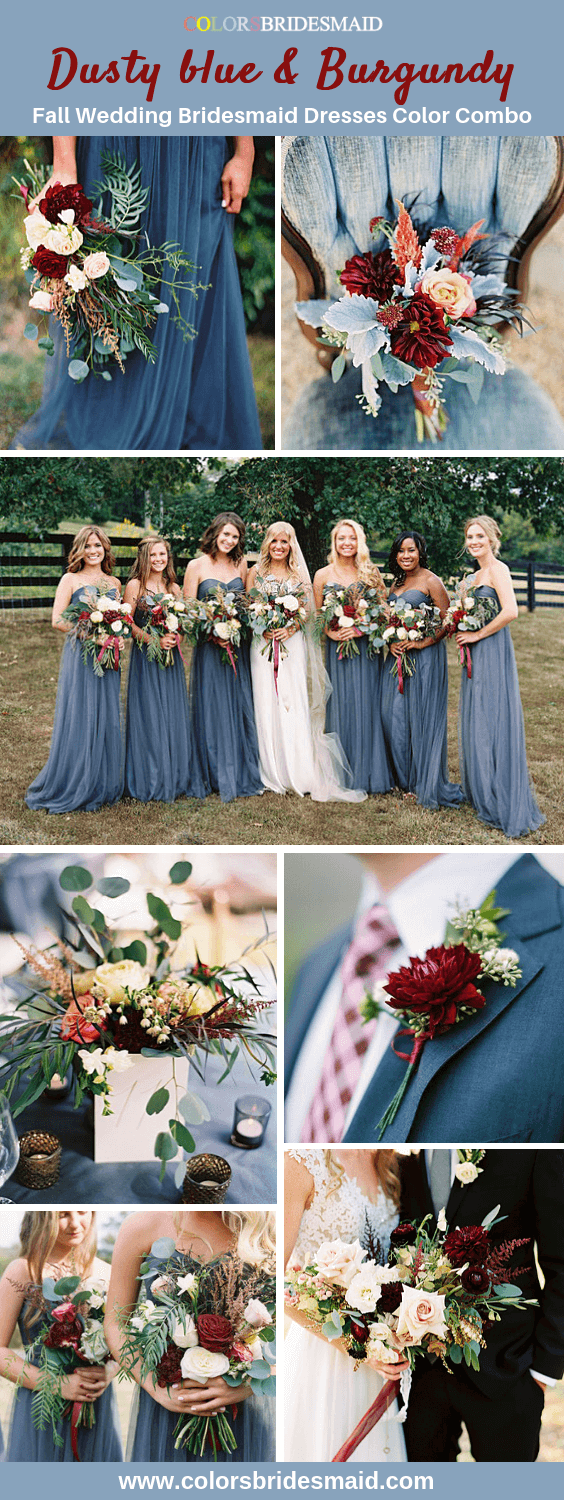 Dusty Blue Bridesmaid Dresses -   16 wedding Bouquets bridesmaids ideas