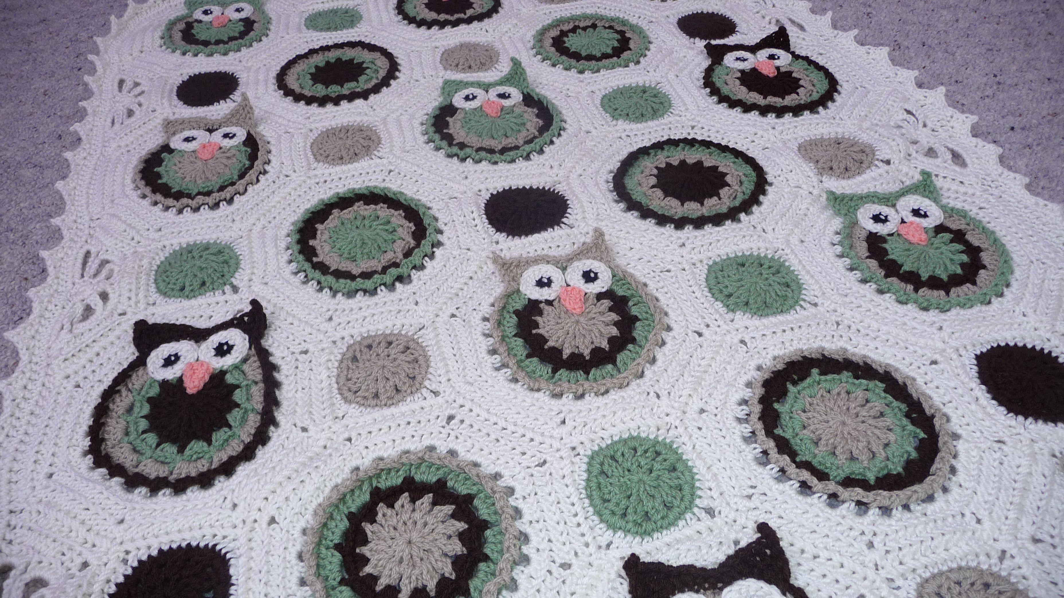 Woodland owls crochet baby blanket.   Hobi   Pinterest   Crochet ...