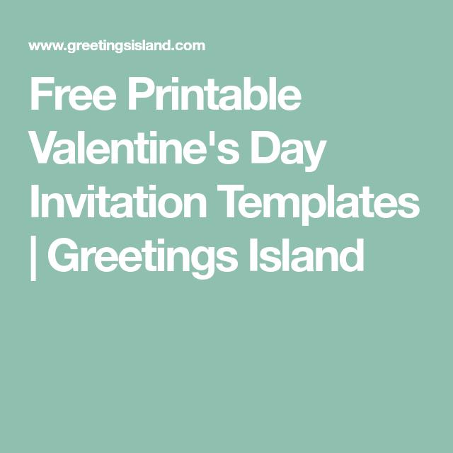 Free Printable Valentine S Day Invitation Templates