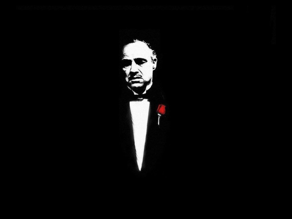 The Godfather Black Wallpaper Wide HD 4K The godfather