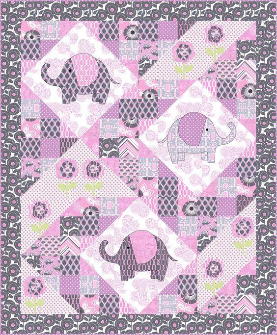 Elephant pop Quilt - FREE QUILT PATTERNS - GET INSPIRED:   BABY ... : free patchwork cot quilt patterns - Adamdwight.com