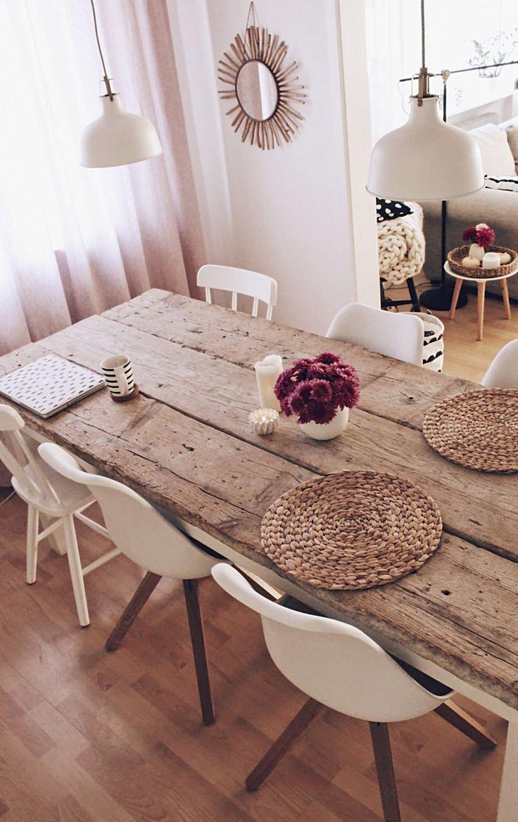 DIY Esstisch selber bauen - Tisch aus alten Baudielen