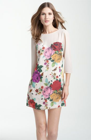 Ted+Baker+London+Garden+Print+Sweetheart+Dress+available+at+#Nordstrom