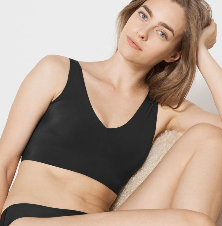 587477ba343 True & Co. True&Co. True Body V Neck Bra in 2019 | I need this ...