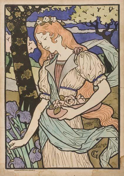 By Eugène Grasset - Art Nouveau