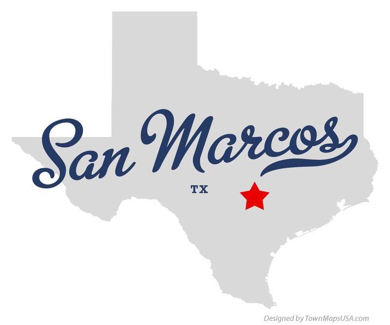 Map of San Marcos Texas TX I HEART TEXAS San Marcos Edition