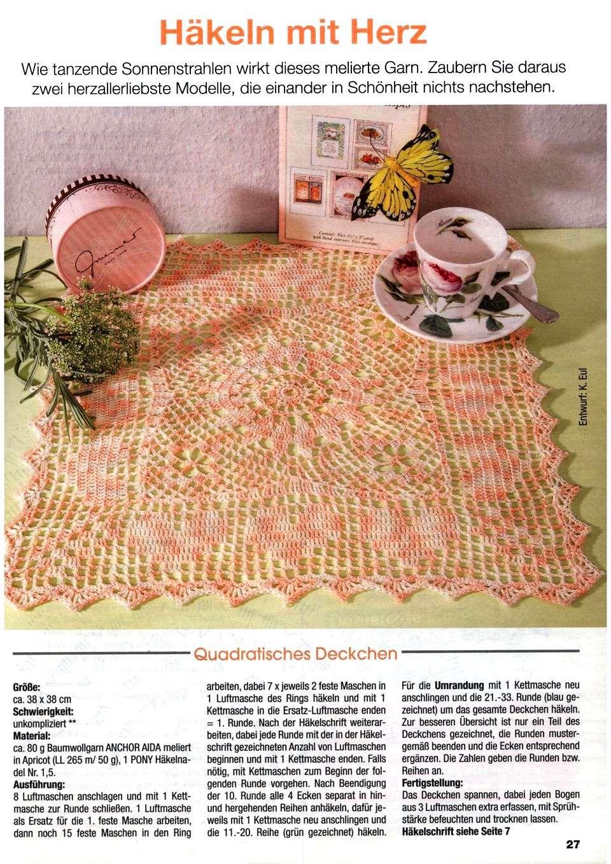 Awesome Feste Häkeln Quadratisches Muster Frieze - Decke Stricken ...