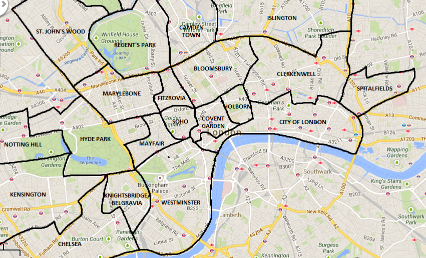 Map Of London England Neighborhoods Map London Neighbourhoods