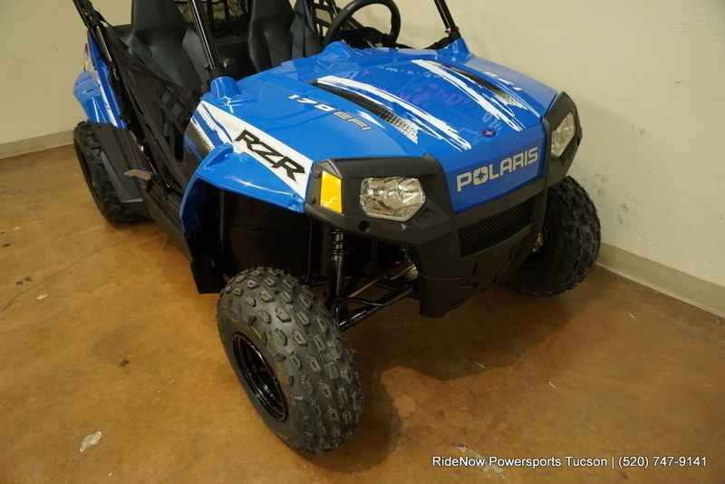 New 2017 Polaris RZR 170 EFI VooDoo Blue ATVs For Sale in Arizona. 2017 Polaris RZR 170 EFI VooDoo Blue, 2017 Polaris® RZR® 170 EFI VooDoo Blue <ul> <li> Includes safety flag, helmet and instructional DVD</li></ul><ul> <li> Parent-adjustable speed limiter</li></ul><ul> <li> Electronic fuel injected (EFI) 169 cc engine</li></ul><p> Features may include: </p> YOUTH <ul> <li> ALL NEW! Colors & Graphics</li></ul><p> Check out the All NEW! Colors on Outlaw, Sportsman®, and Phoenix</p><ul> <li…