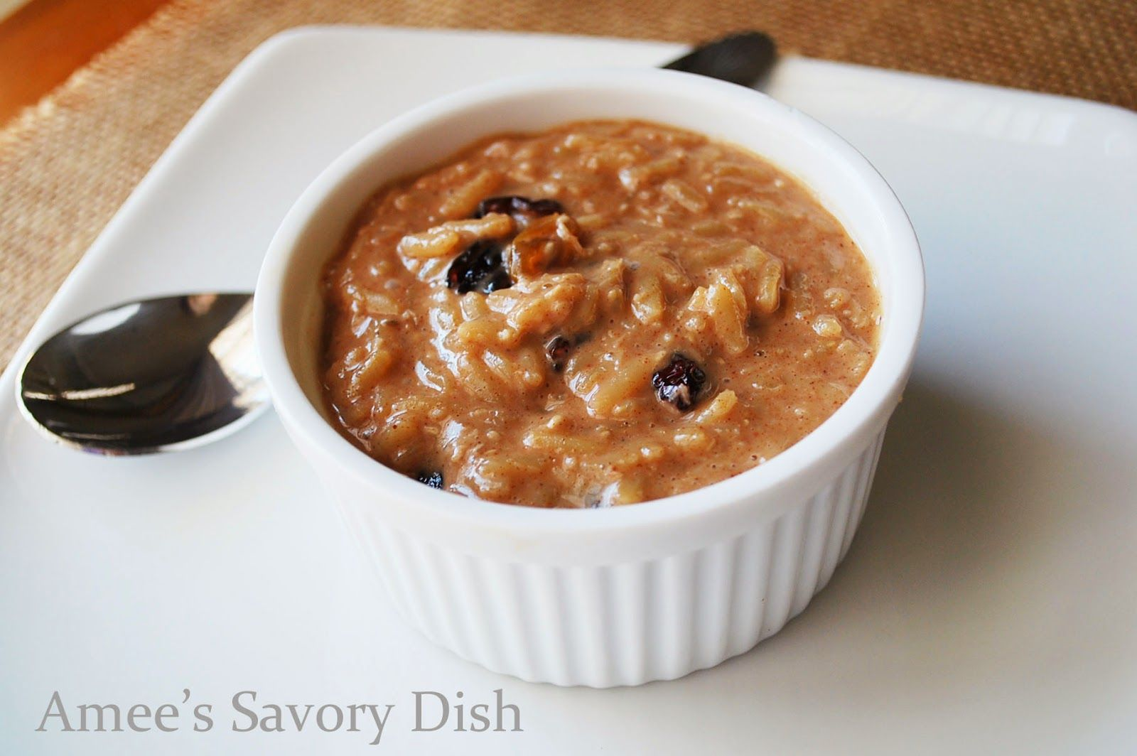 Amee's Savory Dish: Coconut Chia Brown Rice Pudding