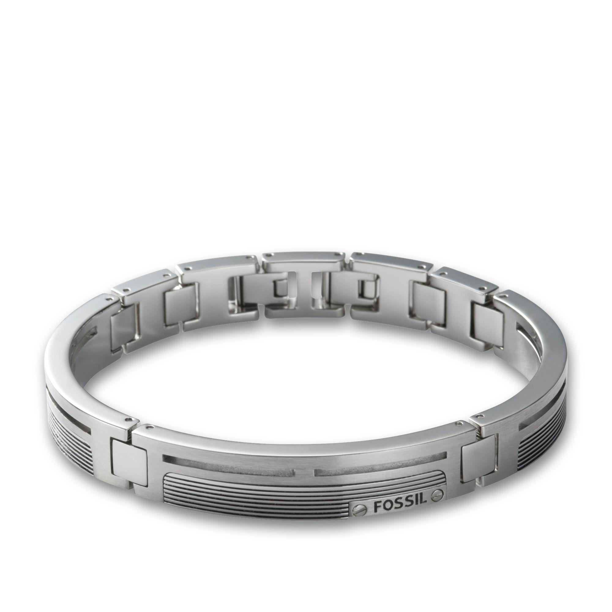 Lederarmband mit gravur fossil  Fossil Armband für Herren JF84476040 mit Gravur aus der Serie Mens ...