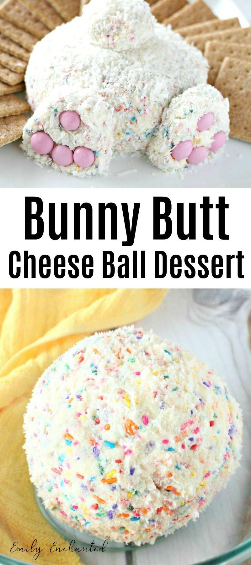 Sweet Bunny Butt Cheese Ball Easter Dessert Recipe