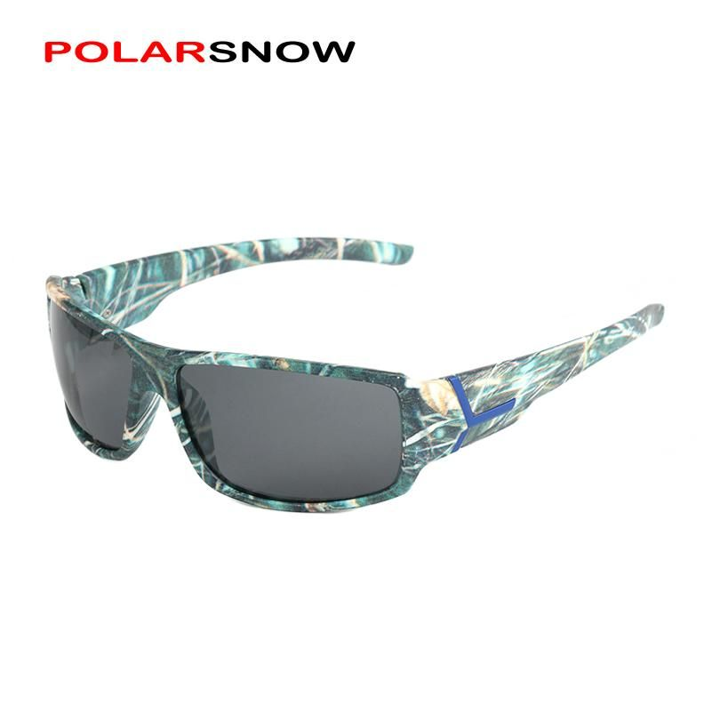 23837b42b0 POLARSNOW Camo Polarized Lens Sunglasses Men Goggles Sports Male UV400 Safe  Driving Oculos P2216MIC1