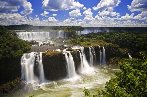 Iguazu Falls - border of brazil, paraguay and argentina