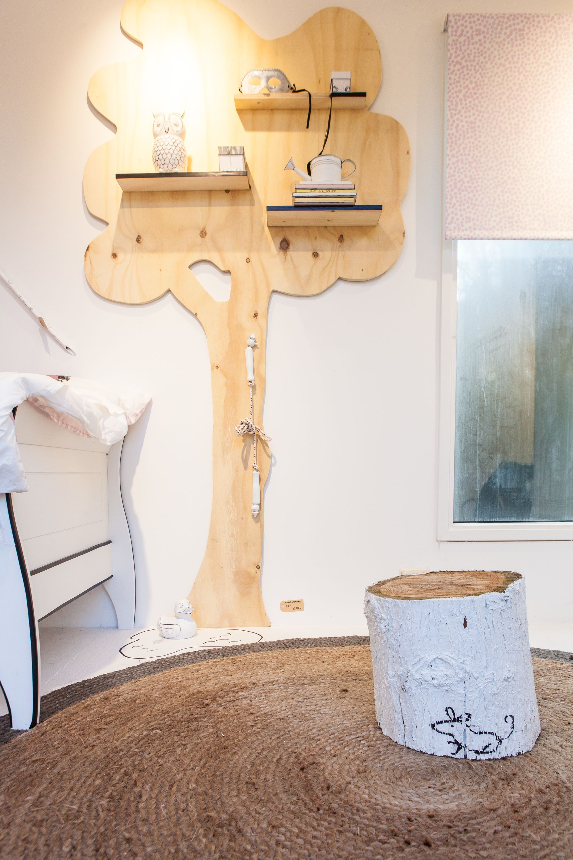 Decoratie Boom Kinderkamer.Woood Wanddecoratie Boom Met Uil The Apple Of My Eye Babykamer