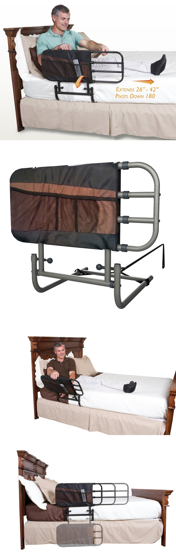 elderly ez adjustable rail padded bi rails with st stander for pouch adjust bed