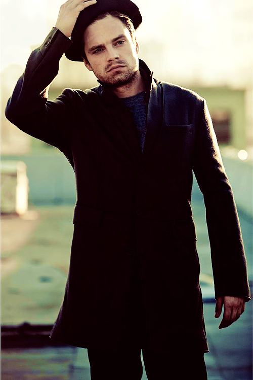 Sebastian Stan.. how can someone be so good looking.. it literally hurts how good he looks all the time..