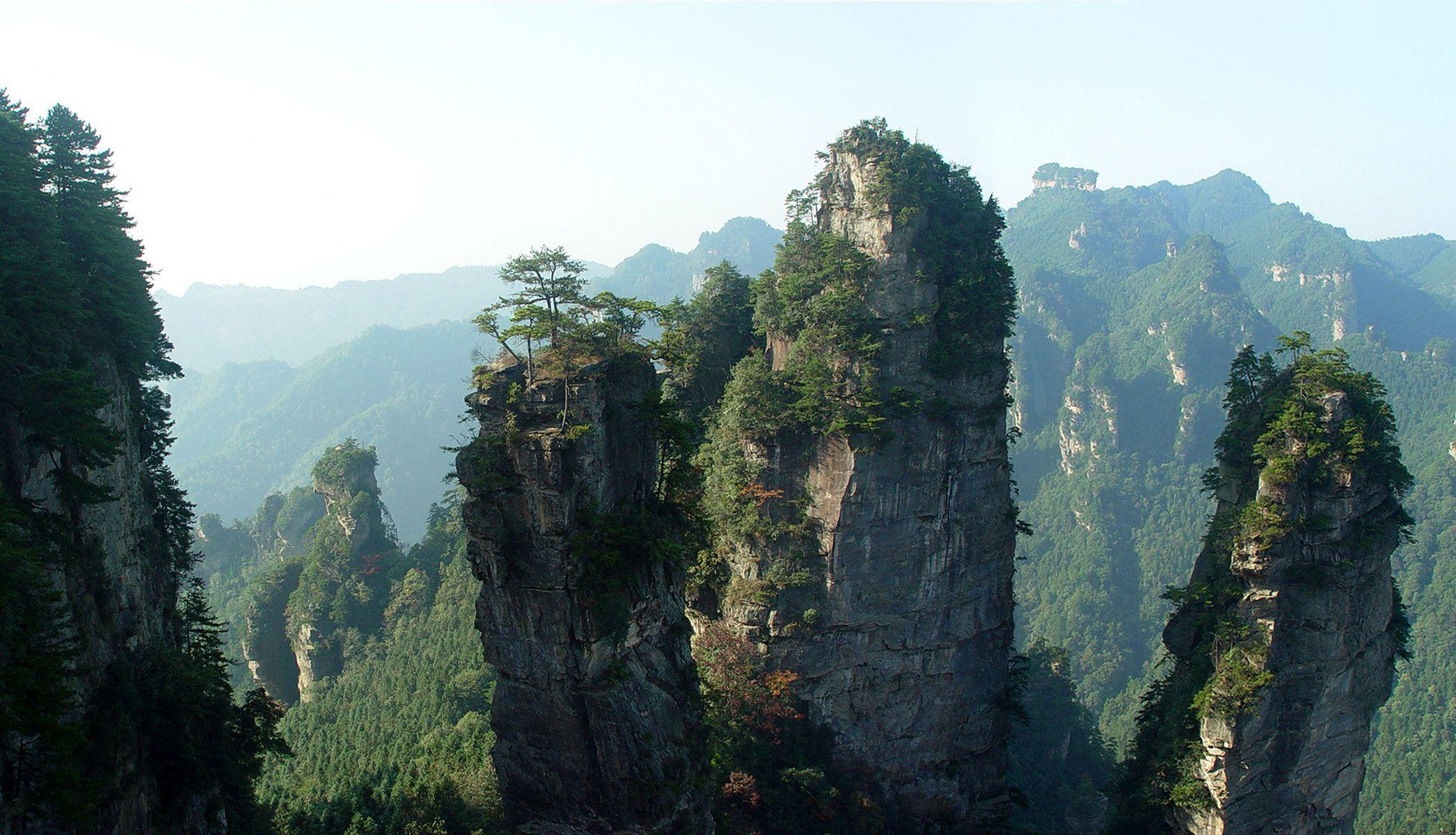 Landscape Nature Hd Tianzi Mountains Desktop Pictures Mountains