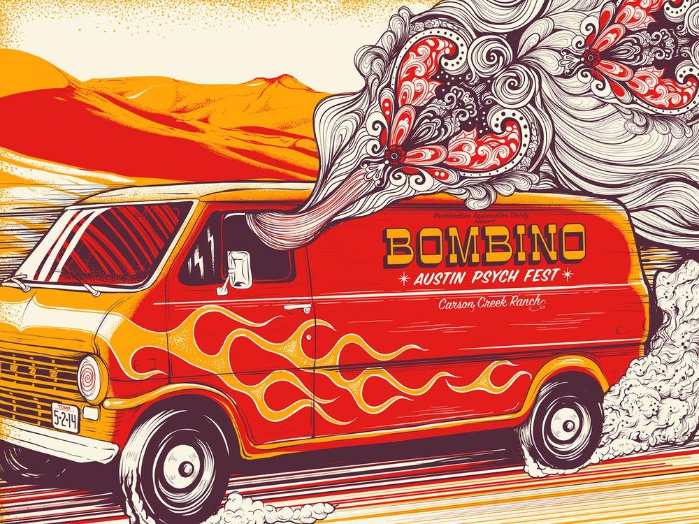 Bombino-Austin Psych Fest poster by Jason A. Smith.