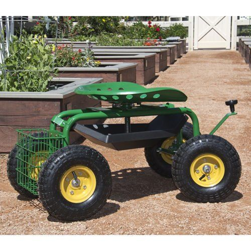 PREMIUM QUALITY SEAT GARDEN WORK TOOL ROLLING CART WILL HELP YOU GET THE  JOB DONE MORE