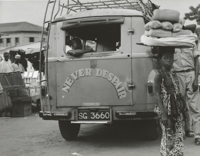 """Never Despair"" Accra Bus Terminal, Ghana"